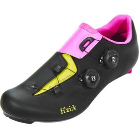 Fizik Aria R3 Rennradschuhe Unisex schwarz/pink/gelb fluo